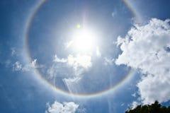 Optische fenomeen cirkelhalo Royalty-vrije Stock Afbeeldingen