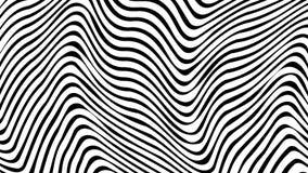 Optische illusie Abstracte lijnenachtergrond Geometrische zwart-wit Het patroon van de lijn Eps10 Vector royalty-vrije illustratie