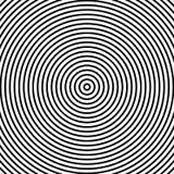 Optische illusie Abstracte lijnenachtergrond Geometrische zwart-wit Het patroon van de lijn Eps10 Vector vector illustratie