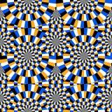 optische illusie bewegende cirkels royalty-vrije illustratie
