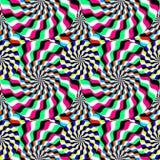 optische illusie bewegende cirkels vector illustratie