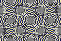 optische illusie bewegende cirkels stock illustratie