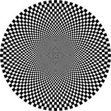 Optische illusie, cirkel Stock Fotografie