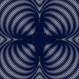 Optische illusie, creatief zwart-wit grafisch moiré stock illustratie