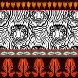 Optische illusie dierlijke druk vector illustratie