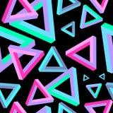 Optische illusie, driehoeks naadloos patroon Driehoek Penrose Geometrische driehoek Driehoeksafmeting stock illustratie