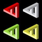 Optische illusie, kleurrijke blokken royalty-vrije illustratie