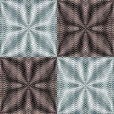 Optische illusie Reeks van naadloos gestreept patroon Gestileerde bloemen vector illustratie
