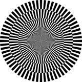 Optische illusie, ronde Stock Foto