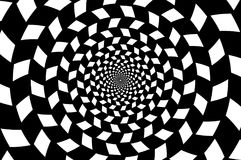 Optische illusie - schaakbordwerveling, royalty-vrije illustratie