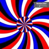 Optische illusie Vector 3d Art. Omwentelings Dynamisch Effect Rotatiecyclus De Ringen van de wervelingspool Geometrische Magische royalty-vrije illustratie