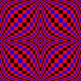 Optische illusie Vector 3d Art. Vervormings Dynamisch Effect Geometrische Magische Achtergrond stock illustratie