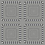 Optische illusie, Vector Naadloos Patroon Stock Afbeelding