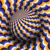 Optische illusie vectorillustratie Blauw oranje wit zwart gevormd gebied die boven dezelfde oppervlakte stijgen royalty-vrije illustratie