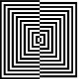 Optische illusie voor hypnotherapy royalty-vrije illustratie
