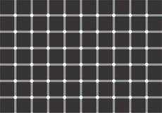 Optische illusie: witte of zwarte punten? Stock Afbeeldingen