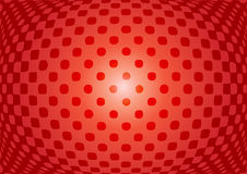 Optische illusiesamenvatting op rode achtergrond Royalty-vrije Stock Afbeeldingen