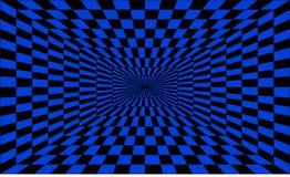 Optische illusietunnel Één-punt perspectief Stock Afbeelding