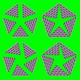 Optische Illusion Stockbild