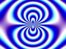 Optische Illusion-blauer weißer doppelter Trichter Stockbilder