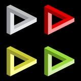 Optische Illusion, bunte Blöcke lizenzfreie abbildung