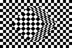 Optische Illusion des Schwarzweiss-Würfels Stockbild