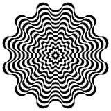 Optische Illusion-Hintergrund Auch im corel abgehobenen Betrag Stockbilder