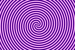 Optische Illusion Hypno Purpur Stockfotografie