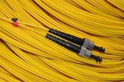 Optische kabel voor de telecommunicatie Stock Foto's