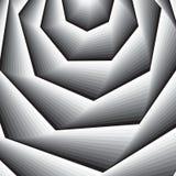 Optische kunstachtergrond 3d optische illusie Moderne tunnel geometrische achtergrond Zwart-wit vectorpatroon stock illustratie