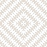 Optische kunsttextuur Witte en beige herhaalbare druk Gevoelig modern ontwerp Stock Afbeelding