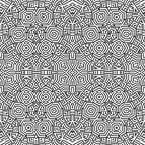 Optische Kunstzusammenfassung gestreiftes nahtloses deco Muster Lizenzfreie Stockfotografie