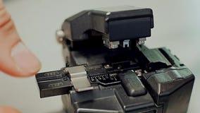 Optische lassenvezel stock videobeelden
