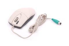 Optische Maus des weißen Computers Stockfotos