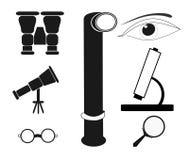 Optische Pictogrammen Royalty-vrije Stock Afbeelding