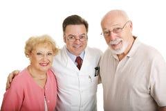 Optische Reeks - Paar & Optometrist stock foto