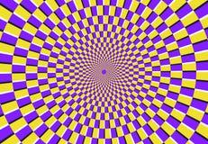 Optische spiraalvormige illusie Magisch psychedelisch patroon, wervelingsillusies en hypnotic abstracte vectorillustratie als ach royalty-vrije illustratie