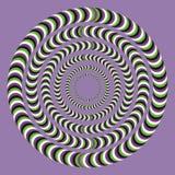 Optische Täuschung, bunte Blöcke lizenzfreie abbildung