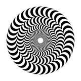 Optische Täuschung des Volumens Runder Vektor lokalisierte Schwarzweiss-Muster auf einem weißen Hintergrund Lizenzfreies Stockbild