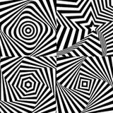 Optische Täuschung mit Beschaffenheit Stockfotos