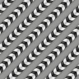 Optische Täuschung, Vektor-nahtloses Muster Stockbilder