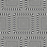 Optische Täuschung, Vektor-nahtloses Muster Lizenzfreie Stockbilder