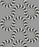 Optische Täuschung, Vektor-nahtloses Muster Stockfotografie