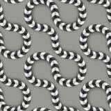 Optische Täuschung, Vektor-nahtloses Muster einige Lizenzfreies Stockbild