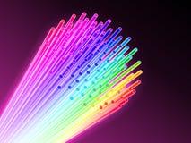Optische vezel. stock illustratie