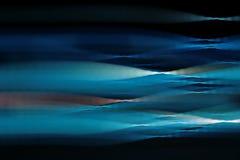 Optische vezel-lichte lijnen Stock Fotografie