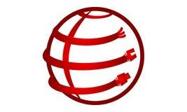 Optische vezel rond de wereld royalty-vrije illustratie