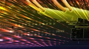 Optische vezelkabels die met een schakelaar worden verbonden Royalty-vrije Stock Afbeelding