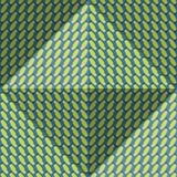 Optischer Bewegungsillusions-Zusammenfassungshintergrund Ellipse kopierte nahtloses Muster in der vierflächigen Pyramidenform Lizenzfreie Stockfotografie