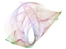 Optischer KunstFractal Attractors Polymehrfarbenzwei Stockbild